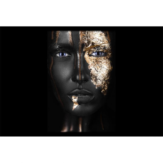 Wanddecoratie Noir Gold 135x90cmmet zwarte baklijst