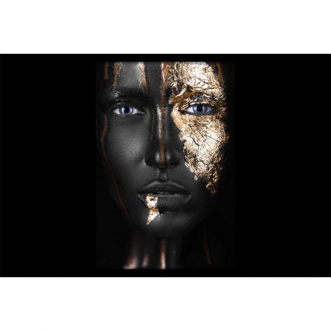 Wanddecoratie Noir Gold 150x100cmmet zwarte baklijst