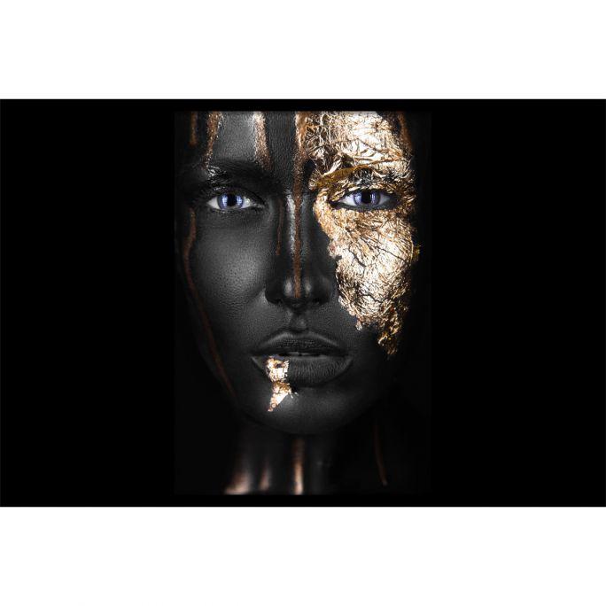 Wanddecoratie Noir Gold 180x120cmmet zwarte baklijst