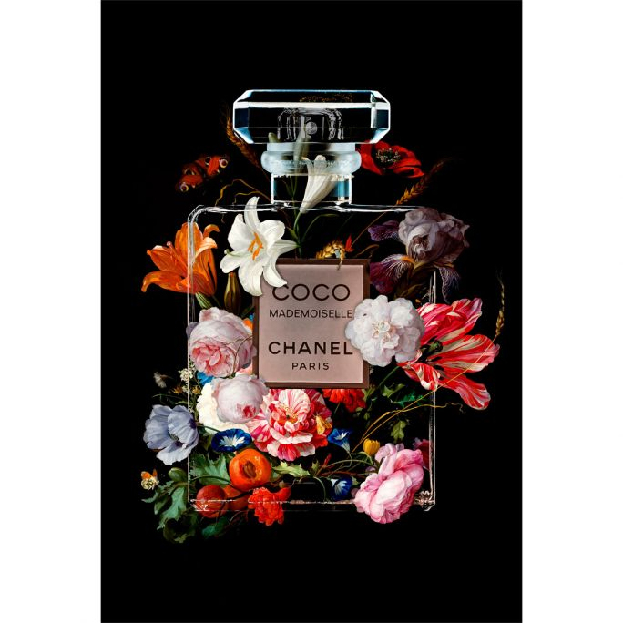 Wanddecoratie The Perfume Collection VI 80x120cmmet zwarte baklijst