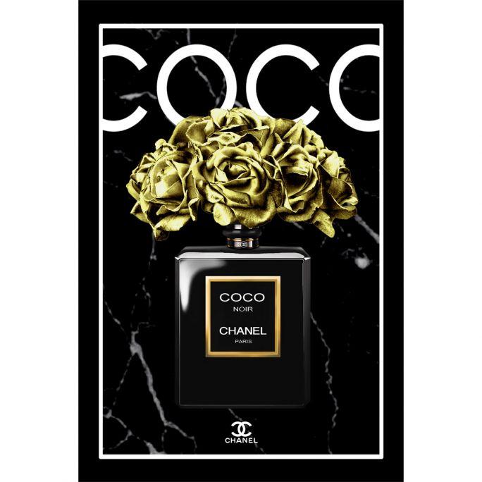 Wanddecoratie The Perfume Collection VII 100x150cmmet zwarte baklijst