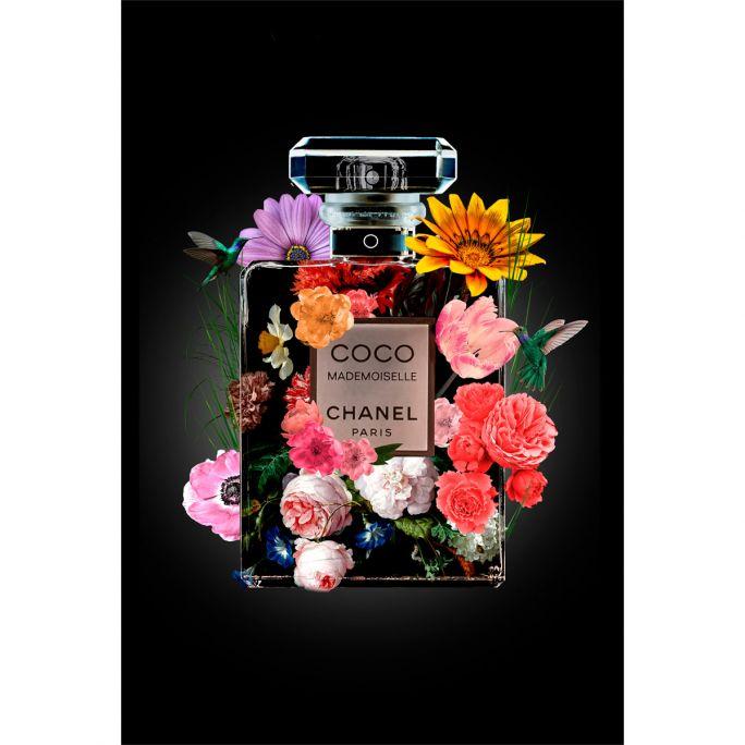 Wanddecoratie The Perfume Collection V 100x150cmmet zwarte baklijst