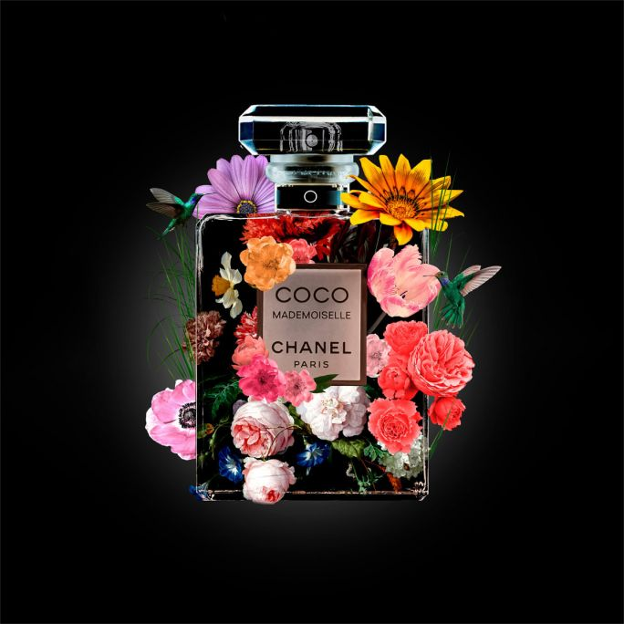 Wanddecoratie The Perfume Collection V 120x120cm