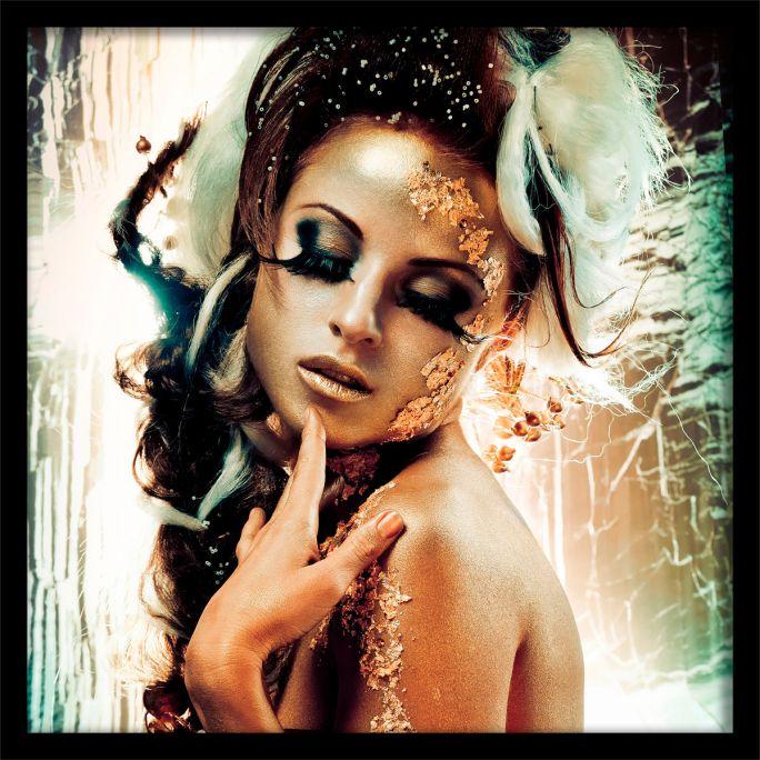 Wanddecoratie Fairytale Temptation I 100x100cmmet zwarte baklijst