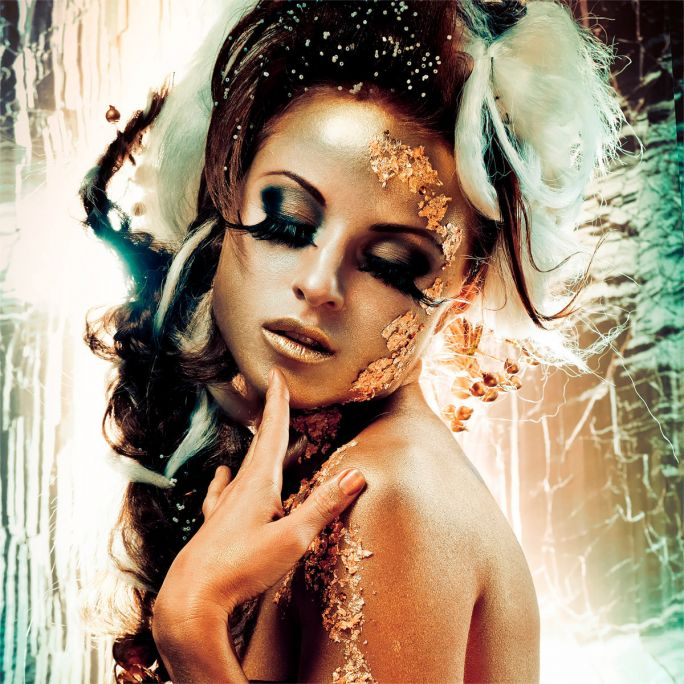 Wanddecoratie Fairytale Temptation I 120x120cm