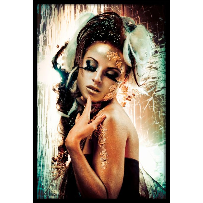 Wanddecoratie Fairytale Temptation I 120x180cmmet zwarte baklijst