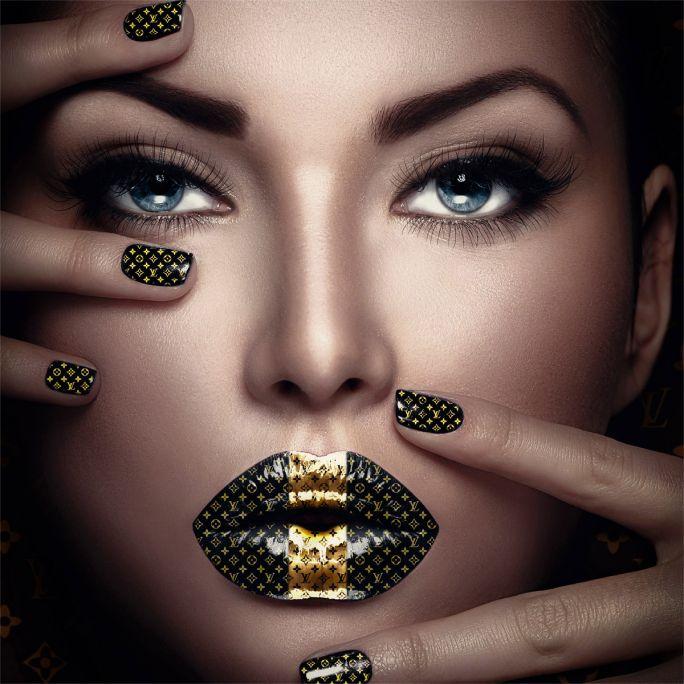 Wanddecoratie Fashion Lips II 100x100cm
