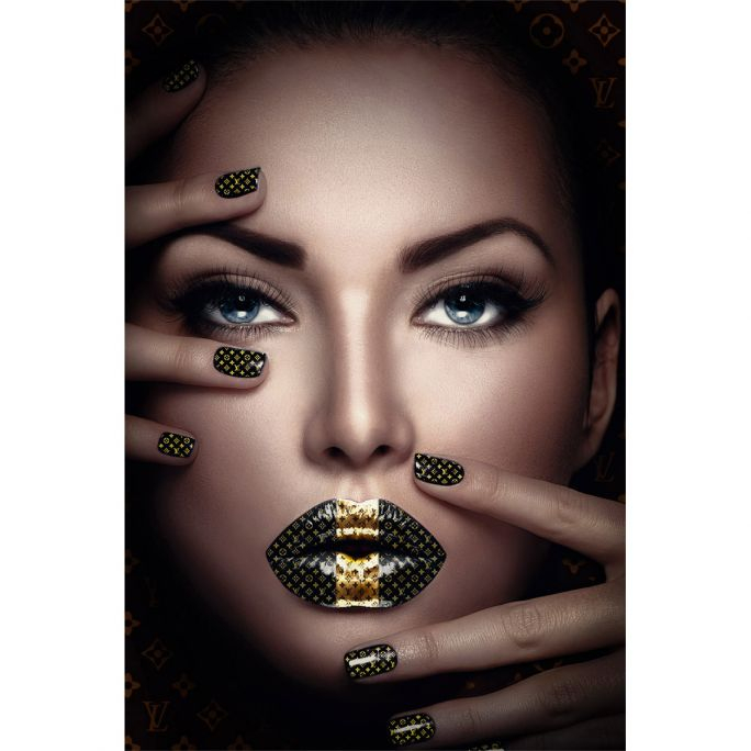Wanddecoratie Fashion Lips II 120x180cm