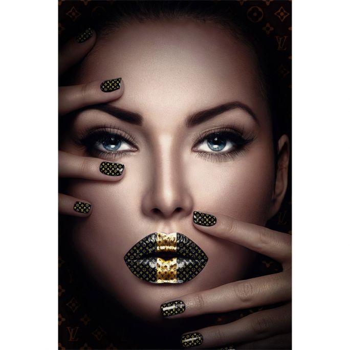 Wanddecoratie Fashion Lips II 90x135cm