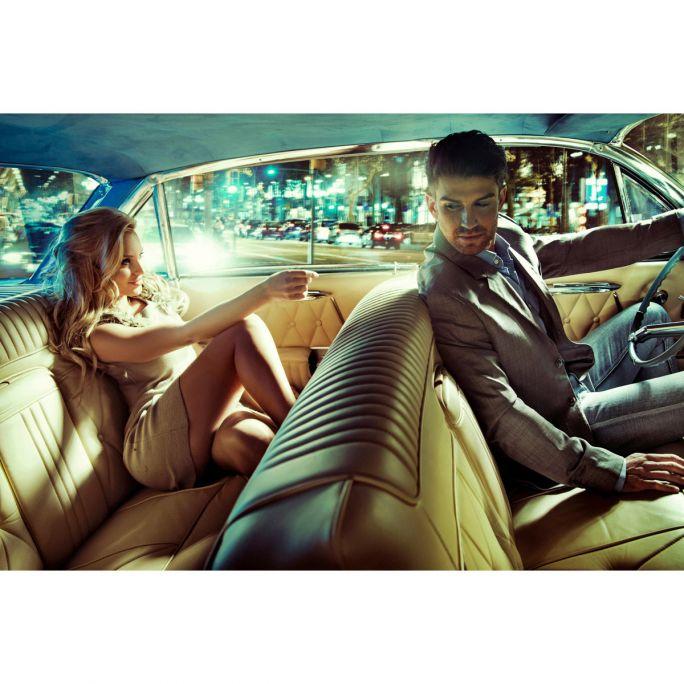 Wanddecoratie Backseat Romance 135x90cm