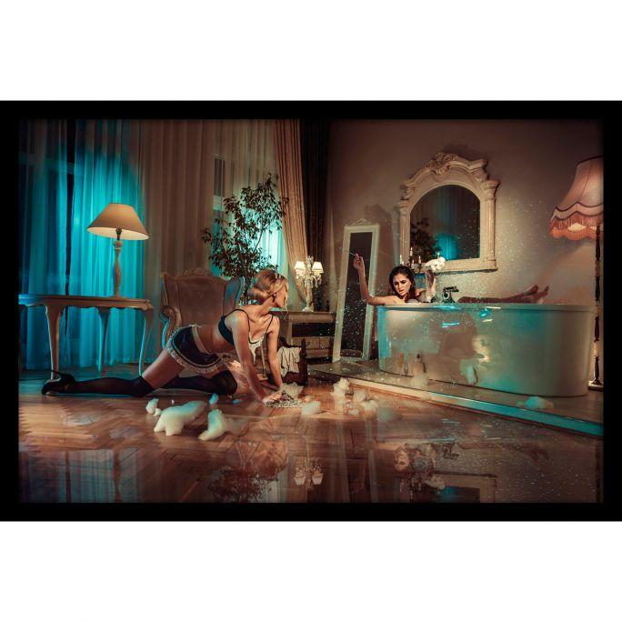 Wanddecoratie Drama Queens 120x80cmmet zwarte baklijst