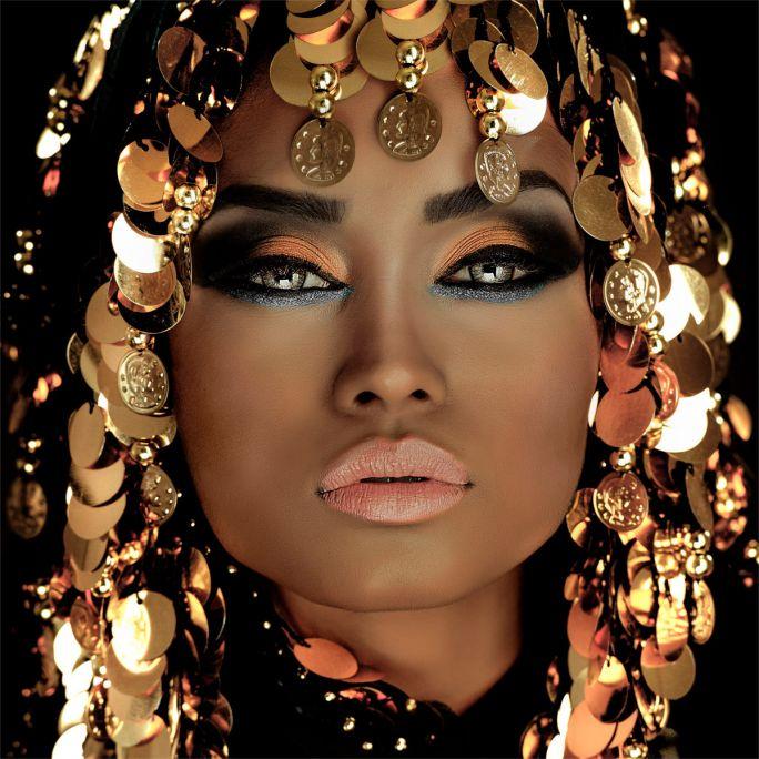 Wanddecoratie Queen of Gold 100x100cm