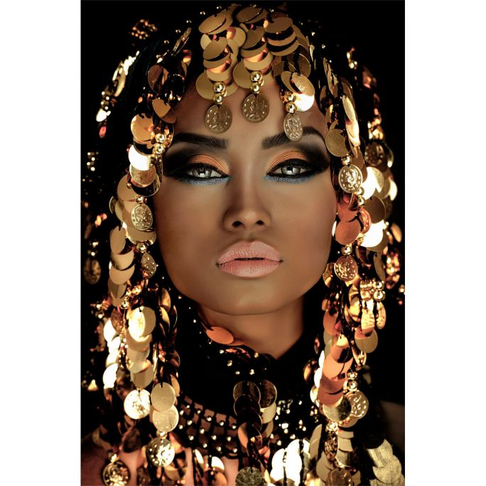Wanddecoratie Queen of Gold 90x135cm