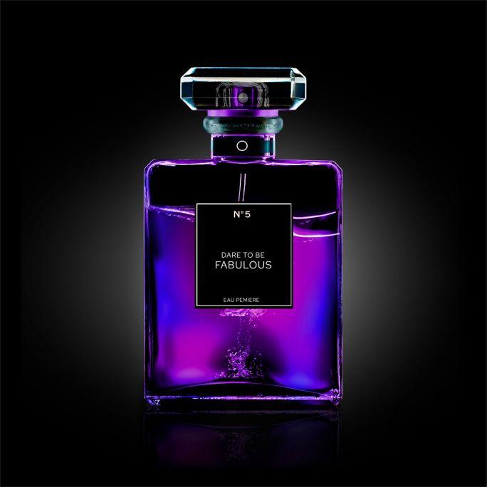 Wanddecoratie The Perfume Collection II 100x100cmmet zwarte baklijst