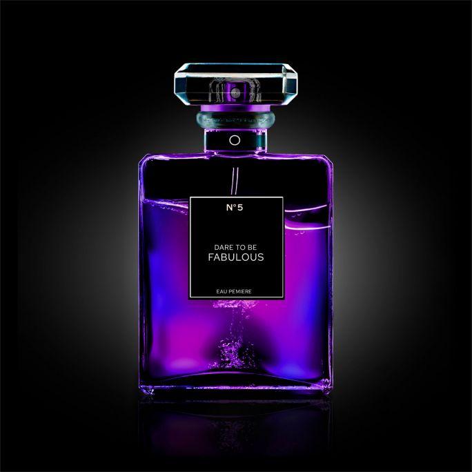 Wanddecoratie The Perfume Collection II 120x120cmmet zwarte baklijst