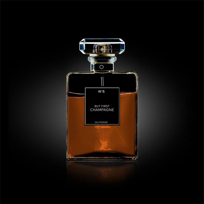 Wanddecoratie The Perfume Collection III 100x100cmmet zwarte baklijst