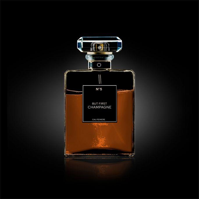 Wanddecoratie The Perfume Collection III 120x120cmmet zwarte baklijst