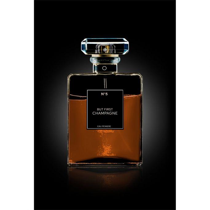 Wanddecoratie The Perfume Collection III 90x135cmmet zwarte baklijst