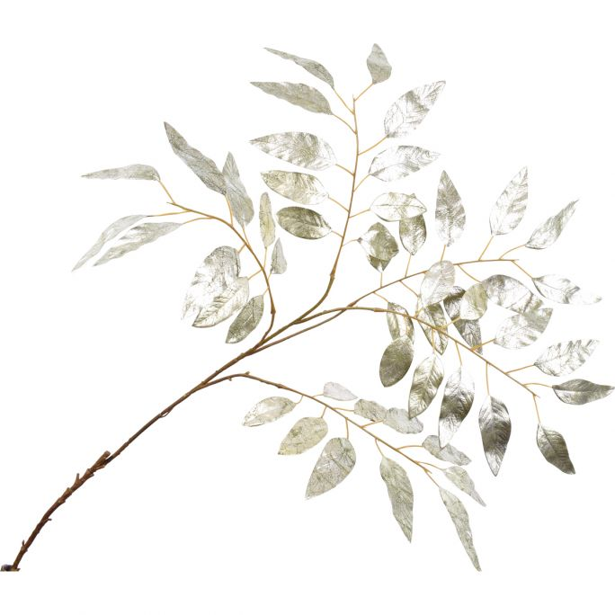 Kunstbloem Eucalyptustak zilver