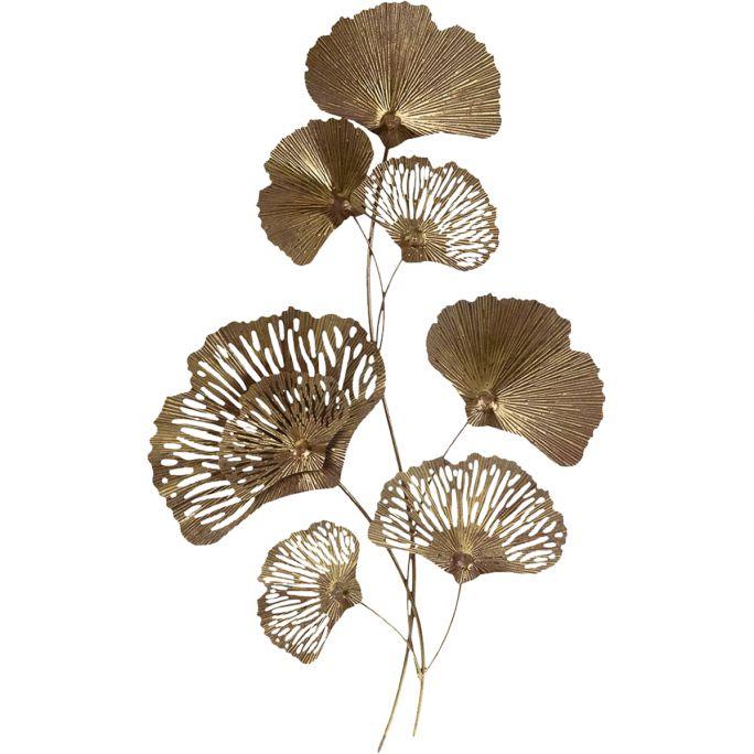 Wanddecoratie Leaves goud