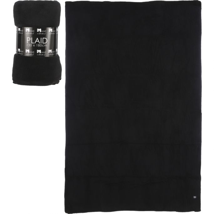 Plaid Maxime 180x130 zwart