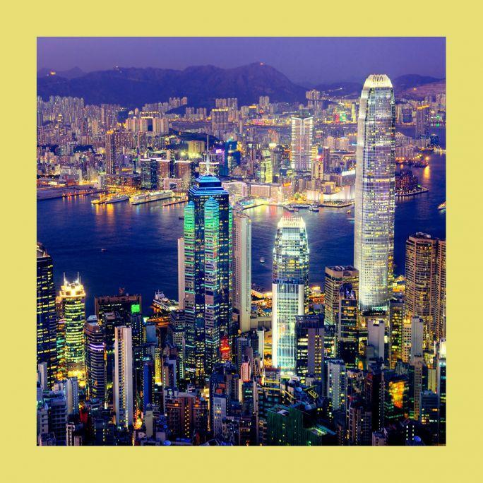 Wanddecoratie City life 026 74x74cm