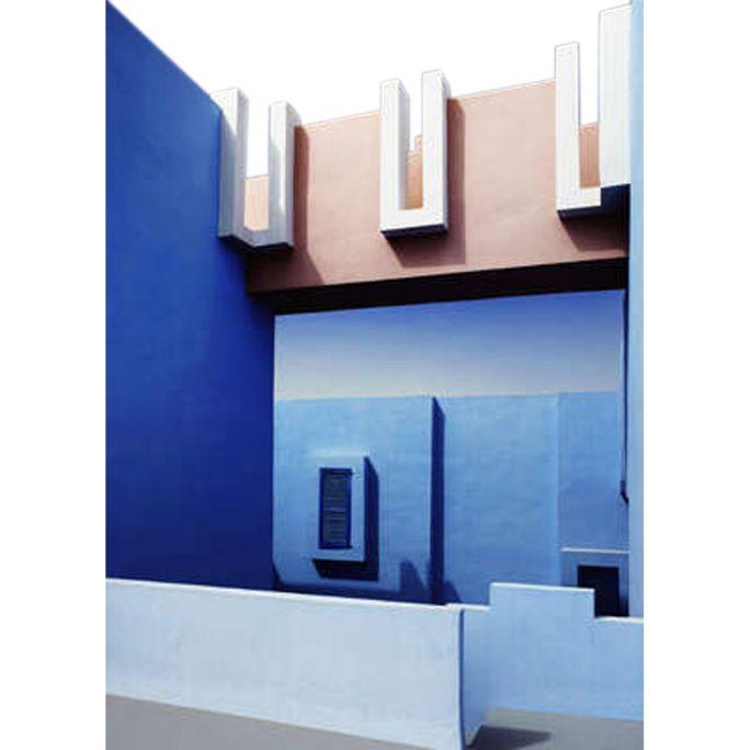 Wanddecoratie Mirage in Blue 50x70cm
