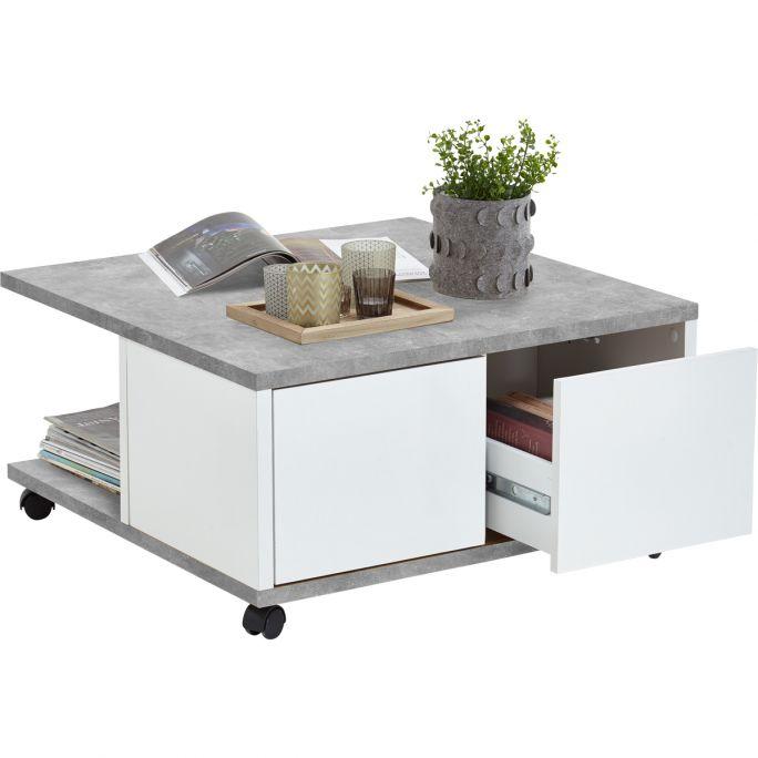 Salontafel Tilburg beton - wit