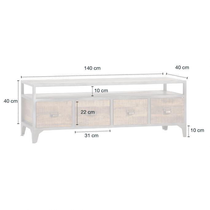 TV meubel 4 laden, 1 open vak Playa