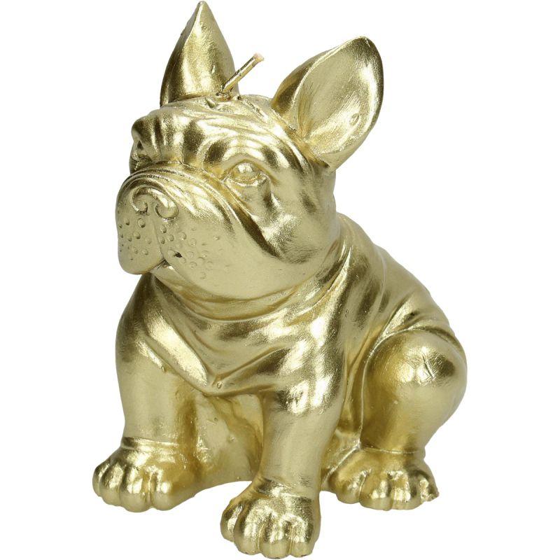 Image of Kaars Bulldog goud