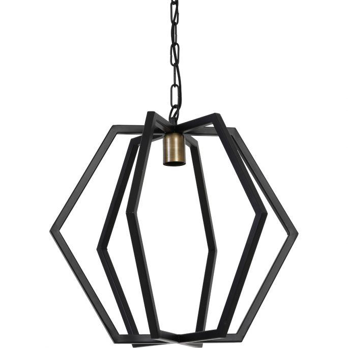 Hanglamp Brooke 46x45cm mat zwart