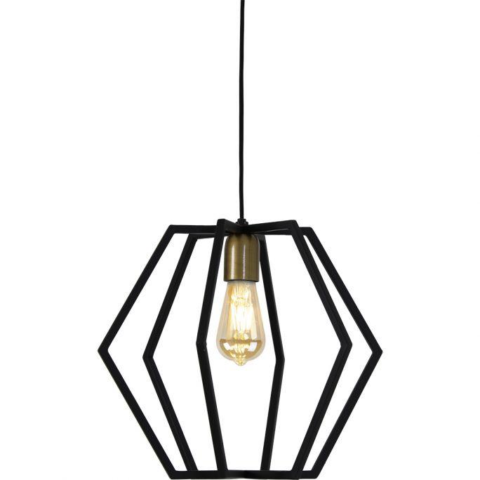 Hanglamp Brooke 35x30cm mat zwart
