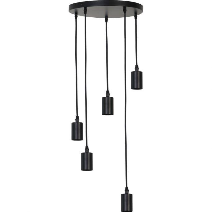 Hanglamp Brandy 5 lichts mat zwart