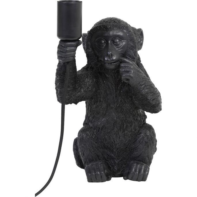 Tafellamp Monkey zwart