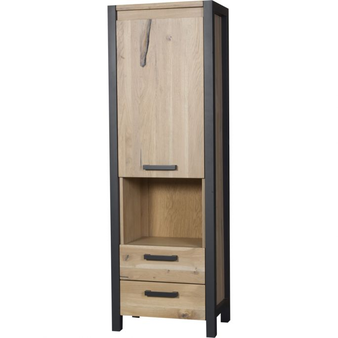 Boekenkast 1 deur, 2 laden, 1 open vak Ponto
