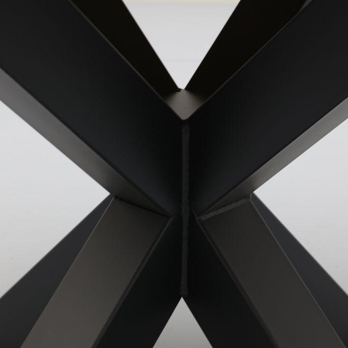 Eettafel Conroe rond met metalen matrixpoot