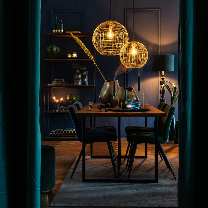 Hanglamp Mik 35cm doorsnee goud