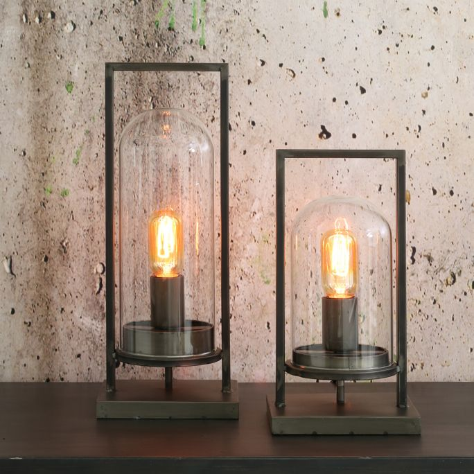 Tafellamp Justin 17x14x43cm antiek zwart