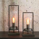 Tafellamp Justin 17x14x32,5cm antiek zwart