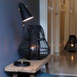 Bureaulamp Bodin zwart goud