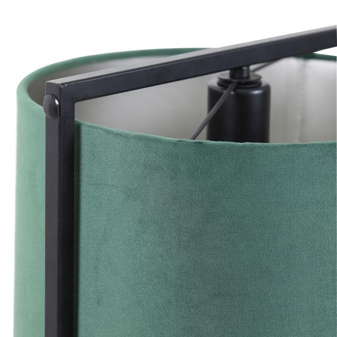 Tafellamp Savea 35cm hoog zwart en donkergroen