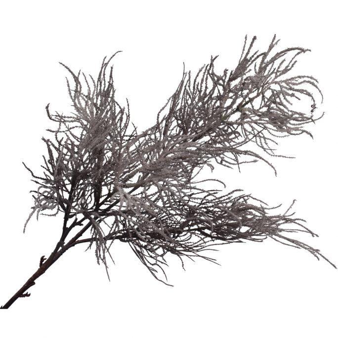 Kunstbloem Houttak grijs