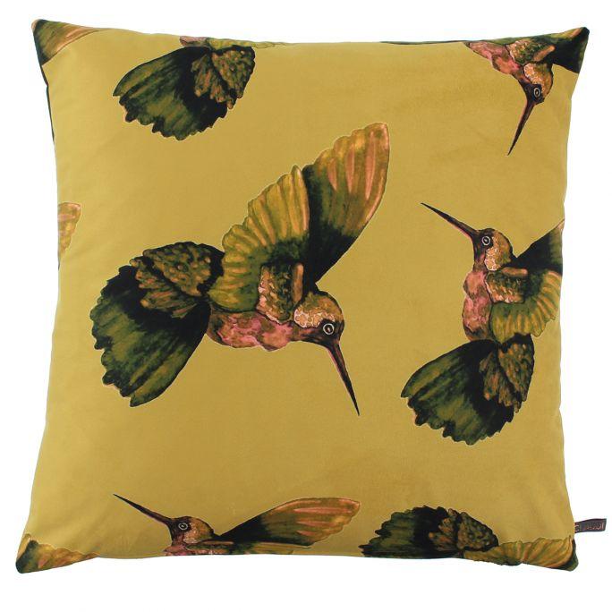 Kussenhoes Hummingbird 45x45 okergeel