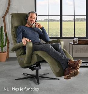 Kies functies voor jouw NLwoont relaxfauteuil