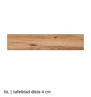 NLwoont eettafel op maat met tafelblad 4 cm