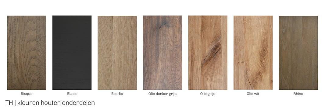 Kleuren voor afwerking van houten onderdelen Trendhopper eettafel
