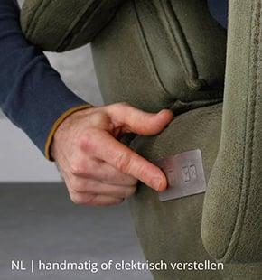 NLwoont relaxfauteuil elektrisch of handmatig verstelbaar