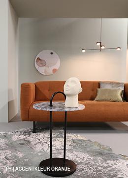 Tips inspiratie van Trendhopper accentkleur oranje in je interieur.