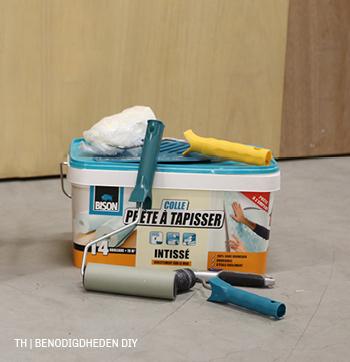 Benodigdheden voor de Trendhopper DIY wandpanelen behangen