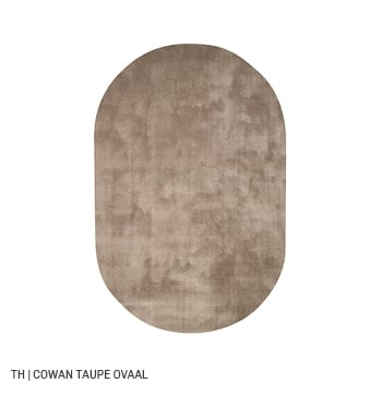 Trendhopper ovalen vloerkleed cowan kleur taupe